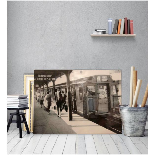 Πίνακας Καμβάς Vintage Σταθμός Τρένου