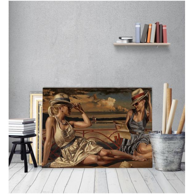 Πίνακας Καμβάς Vintage Κομψές Κυρίες