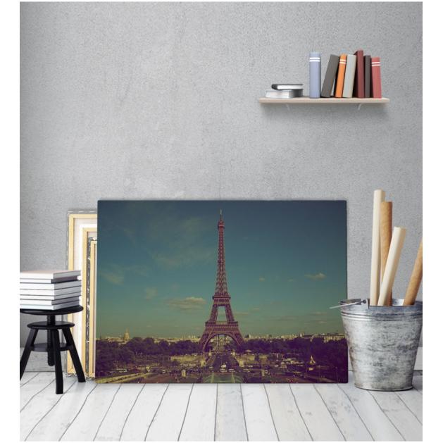 Πίνακας Καμβάς Vintage Παρίσι Πύργος του Άιφελ