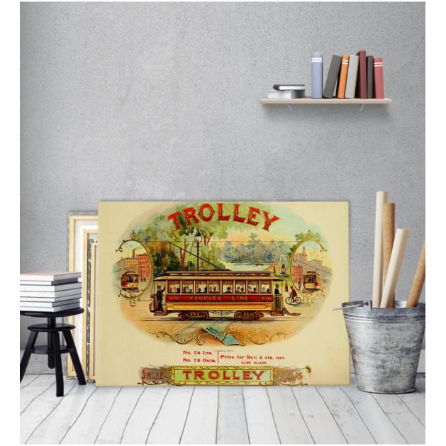 Πίνακας Καμβάς Vintage Τρόλεϋ