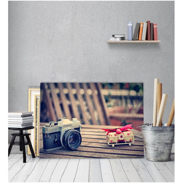 Πίνακας Καμβάς Vintage Φωτογραφική Μηχανή canon