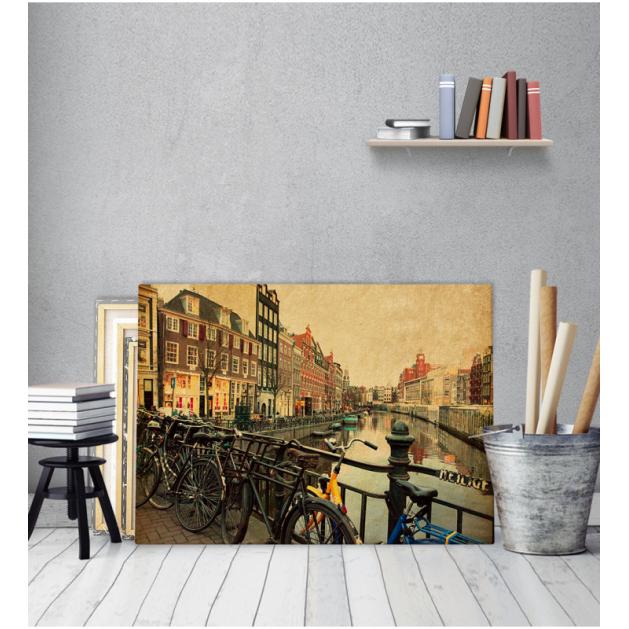 Πίνακας Καμβάς Vintage Πόλη