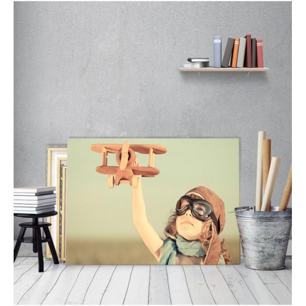 Πίνακας Καμβάς Vintage Παιδάκι Αεροπόρος