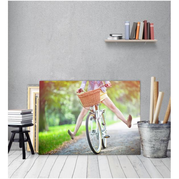 Πίνακας Καμβάς Vintage Βόλτα Με Ποδήλατο
