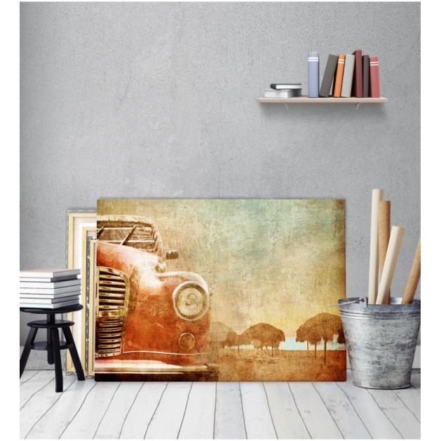 Πίνακας Καμβάς Vintage Κόκκινο Αυτοκίνητο