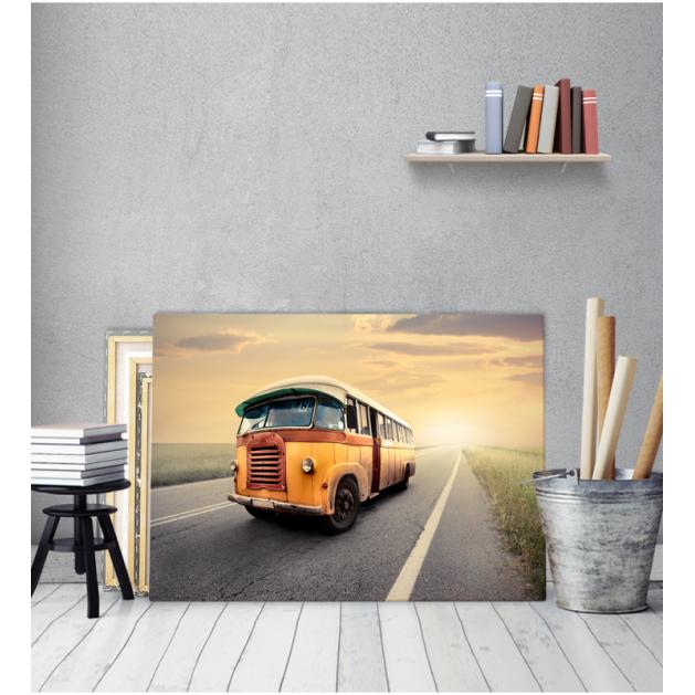 Πίνακας Καμβάς Vintage Λεωφορείο