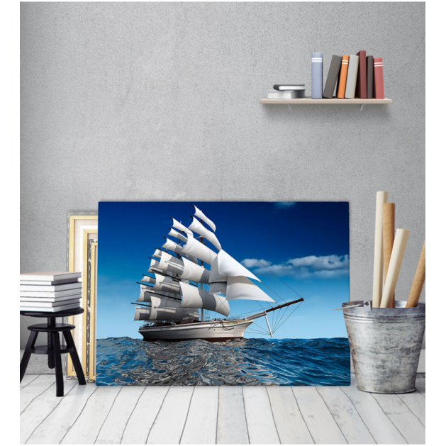 Πίνακας Καμβάς Ιστιοπλοϊκό Θάλασσα Ουρανός