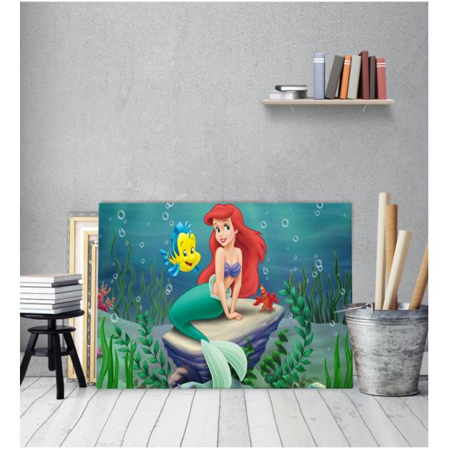 Πίνακας Καμβάς Ariel η Γοργόνα