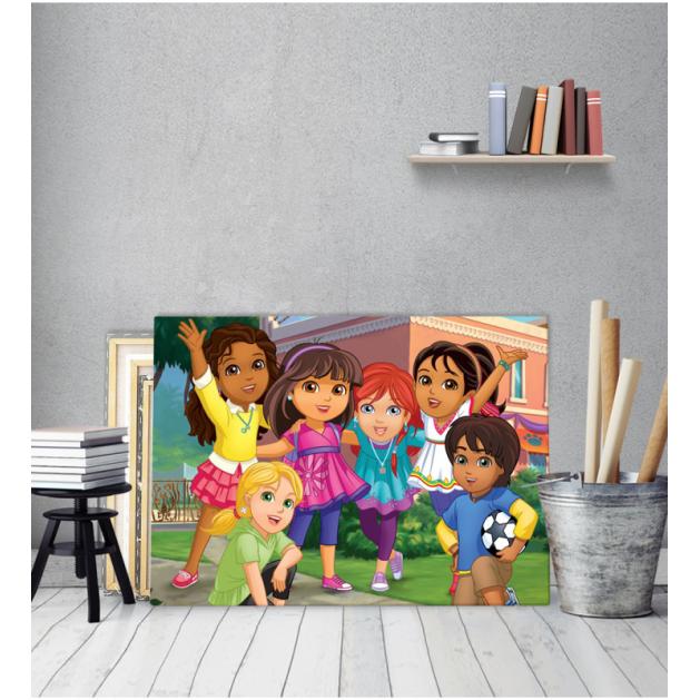 Πίνακας Καμβάς Η Dora Και η Παρέα της