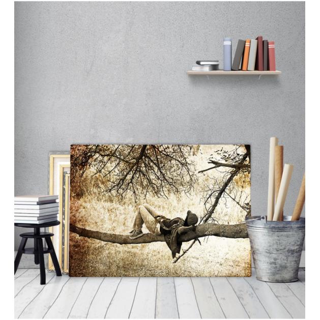 Πίνακας Καμβάς Κορμός Δέντρο Ανθρωπος Vintage