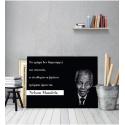 Πίνακας Καμβάς Απόφθεγμα Nelson Mandela quotes