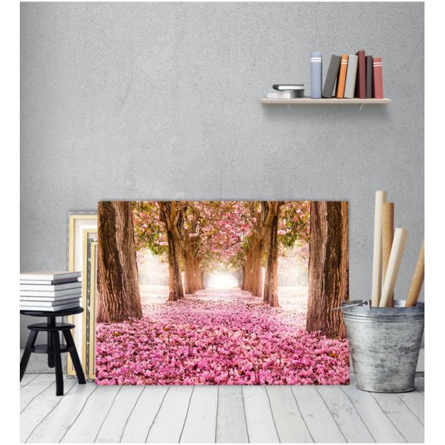 Πίνακας Καμβάς Δάσος ρόζ φύλλα