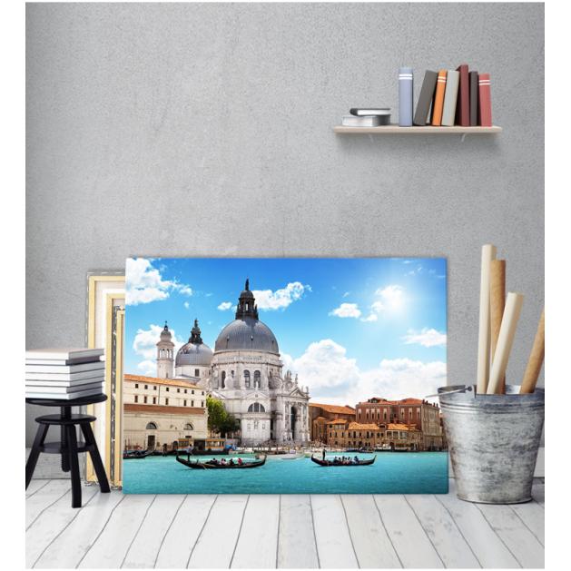 Πίνακας Καμβάς Βενετία γόνδολες εκκλησία