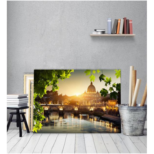 Πίνακας Καμβάς Ιταλία Ρώμη βασιλική  γέφυρα
