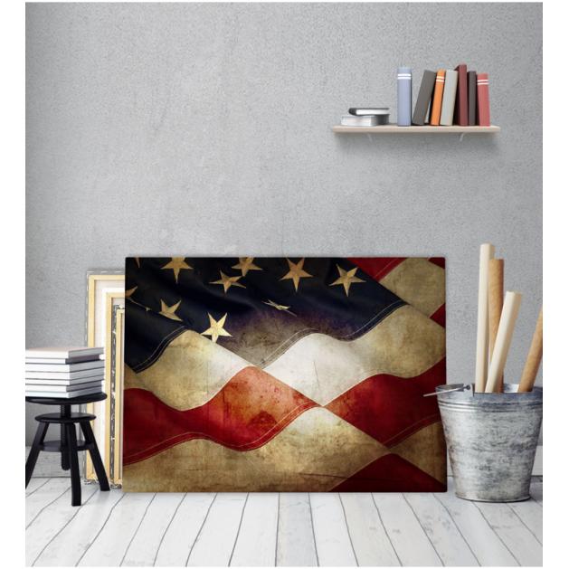 Πίνακας καμβάς Αμερικάνικη Σημαία - american flag