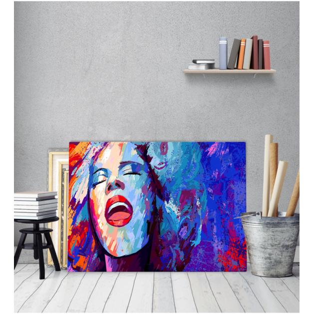 Πίνακας καμβάς με εκτύπωση Art Girl Pop Art