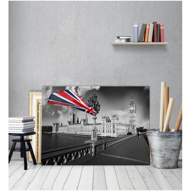 Πίνακας Καμβάς με εκτύπωση London Flag