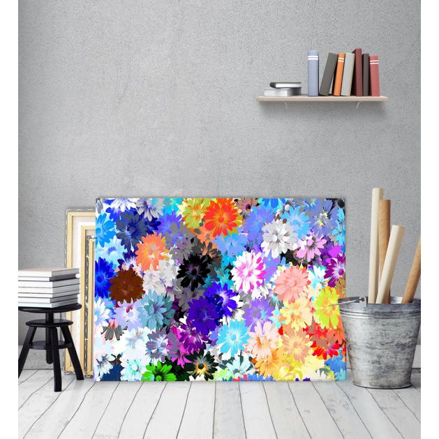Πίνακας Καμβάς Πολύχρωμα Λουλούδια