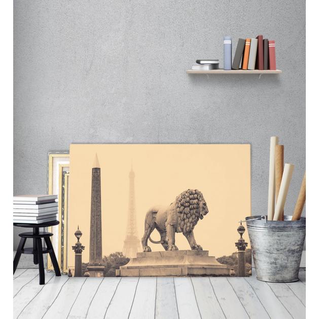 Πίνακας Καμβάς Άγαλμα Λιονταριού