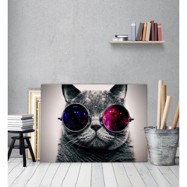 Πίνακας Καμβάς με εκτύπωση Γάτα John Lennon