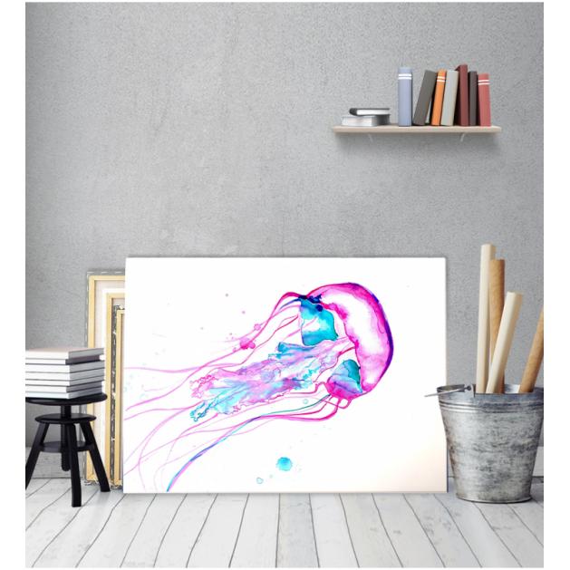 Πίνακας Καμβάς Μέδουσα χρώματα