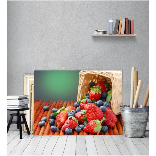 Μοντέρνος Πίνακας Καμβάς για κουζίνα Φρούτα Στο Κοφίνι