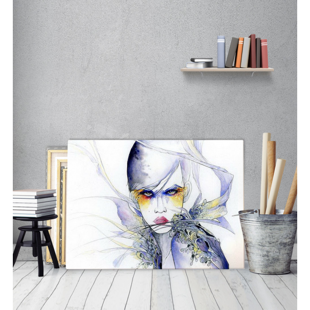 Πίνακας Καμβάς Κορίτσι με Φτερά