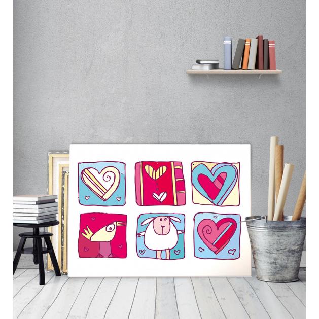 Πίνακας Καμβάς Ζωγραφιστές Καρδιές