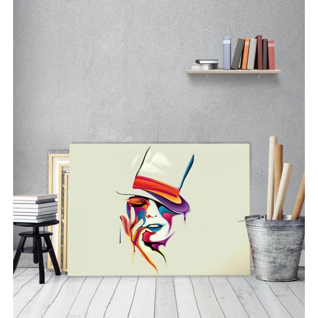 Πίνακας Καμβάς Πορτραίτο με Καπέλο