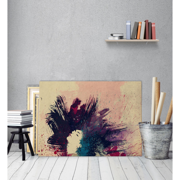 Πίνακας Καμβάς με εκτύπωση Πινελιές Μαλλιών