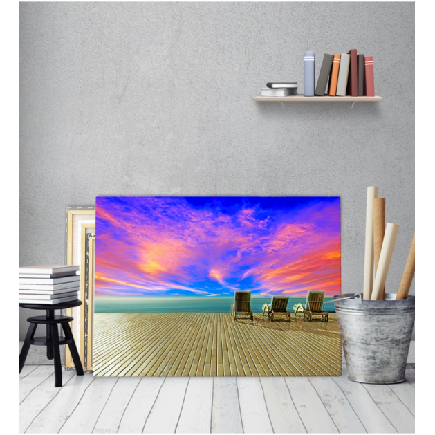 Πίνακας Καμβάς Φανταστικό Ήλιοβασίλεμα