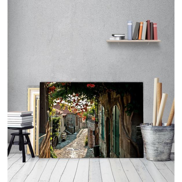 Πίνακας Καμβάς με εκτύπωση Ιταλικό Μονοπάτι λουλούδια