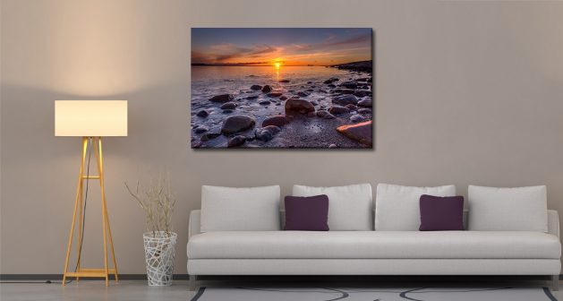 Καμβάς Θάλασσα Ηλιοβασίλεμα