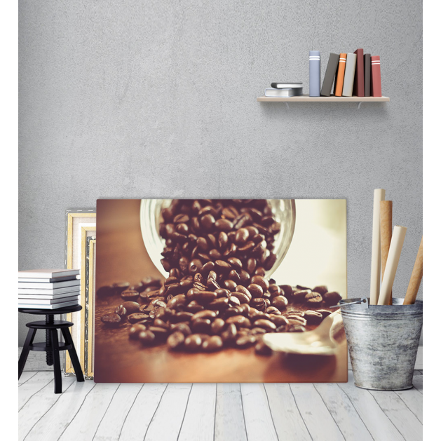 Πίνακας Καμβάς Κόκκοι Καφέ - Coffee Addict