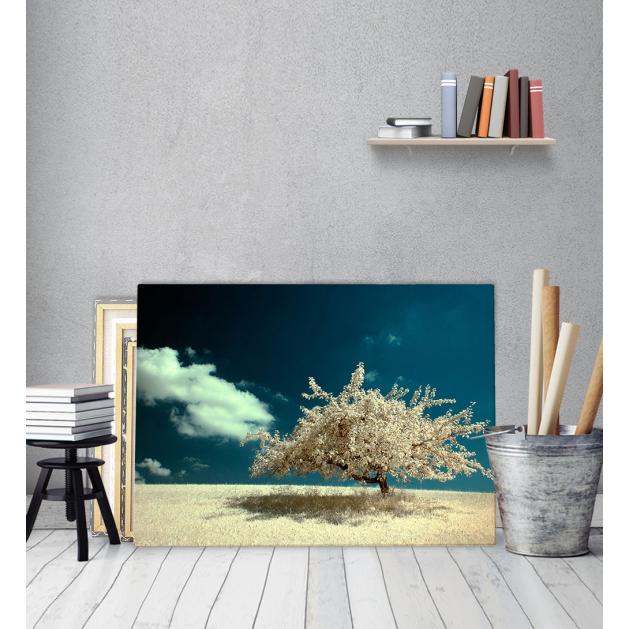 Πίνακας Καμβάς Λευκό Δέντρο