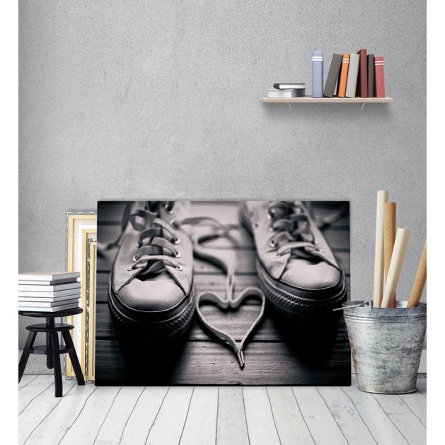 Πίνακας Καμβάς All Star παπούτσια Love