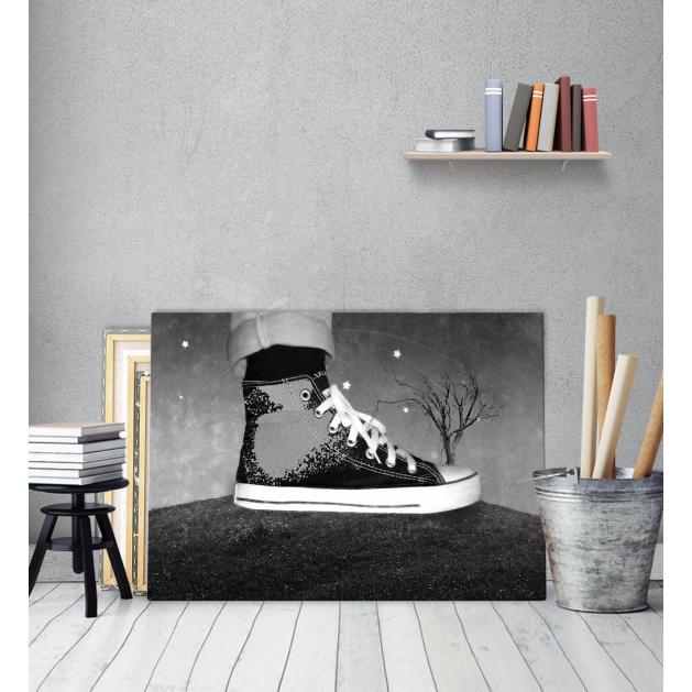 Πίνακας Καμβάς All Star παπούτσι Black and White