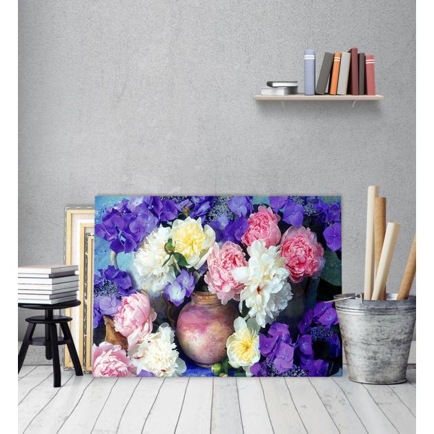 Πίνακας Καμβάς Μπουκέτο λουλούδια σε Βάζο