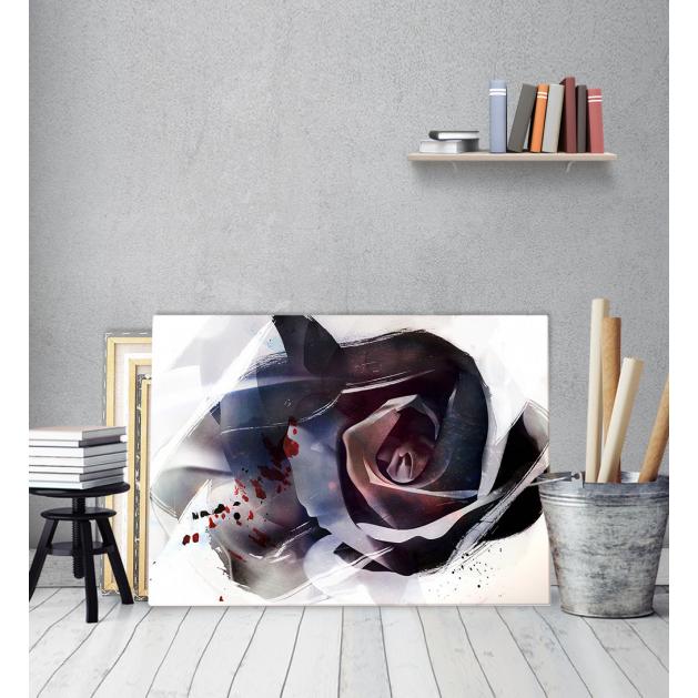 Πίνακας Καμβάς Αφηρημένο Τριαντάφυλλο