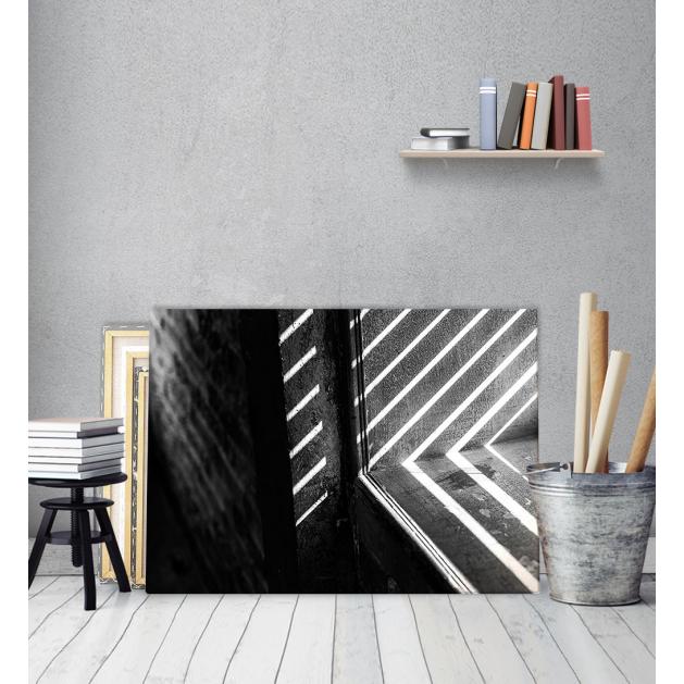 Πίνακας Καμβάς Γρίλιες άσπρο - μαύρο