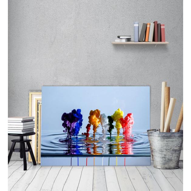 Πίνακας Καμβάς Χρώματα σε Νερό