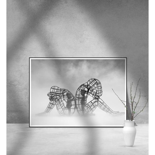 Εκτύπωση σε Αφίσα φωτογραφικό Χαρτί Burning Man Sculpture By Alexander Milov