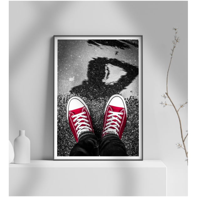 Εκτύπωση σε Αφίσα φωτογραφικό Χαρτί Παπούτσια all star κόκκινα