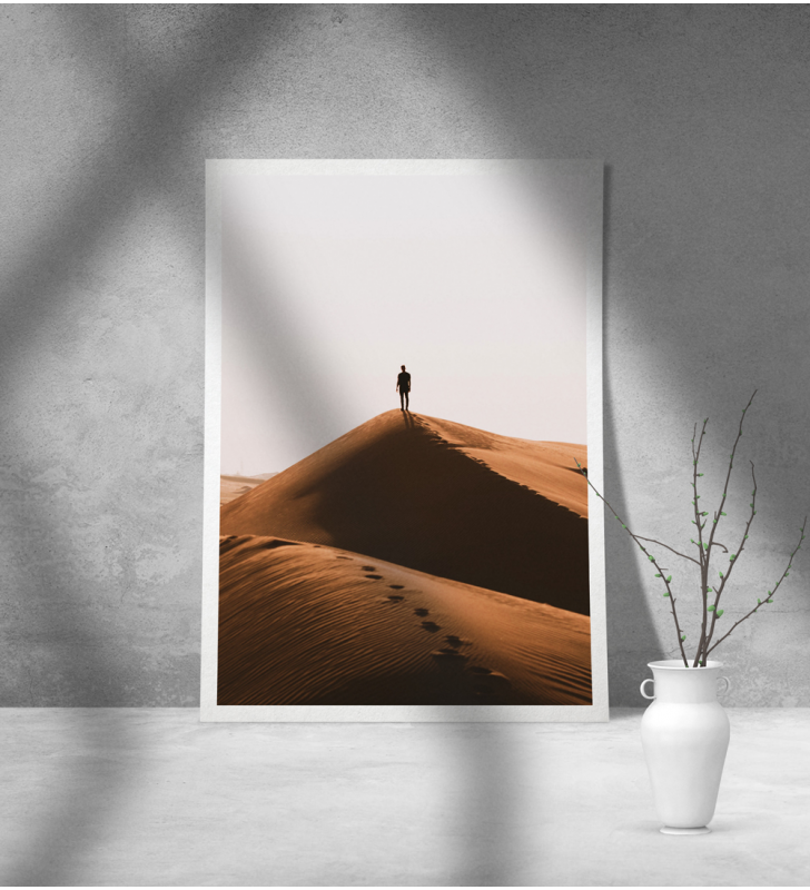 Εκτύπωση σε Αφίσα φωτογραφικό Χαρτί έρημος άνθρωπος
