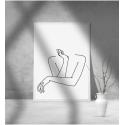 Εκτύπωση σε Αφίσα φωτογραφικό Χαρτί Γραμμικό σχέδιο γυναίκα