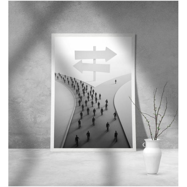 Εκτύπωση σε Αφίσα φωτογραφικό Χαρτί Διπλός Δρόμος Ανθρώποι