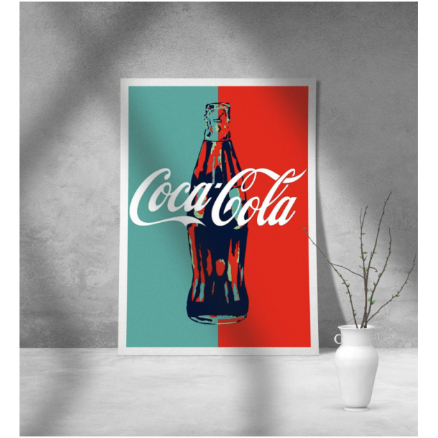 Εκτύπωση σε Αφίσα φωτογραφικό Χαρτί Retro Coca Cola Διαφήμιση