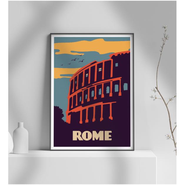 Εκτύπωση σε Αφίσα φωτογραφικό Χαρτί Retro Rome