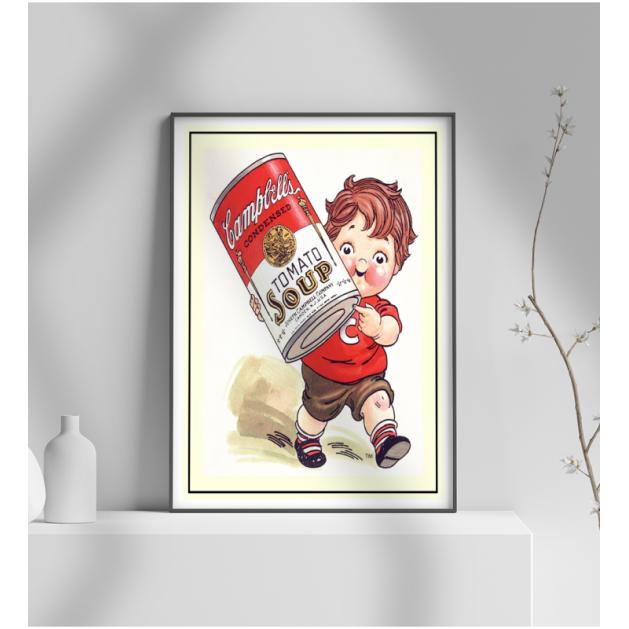 Εκτύπωση σε Αφίσα φωτογραφικό Χαρτί Retro Διαφήμιση Tomato soup
