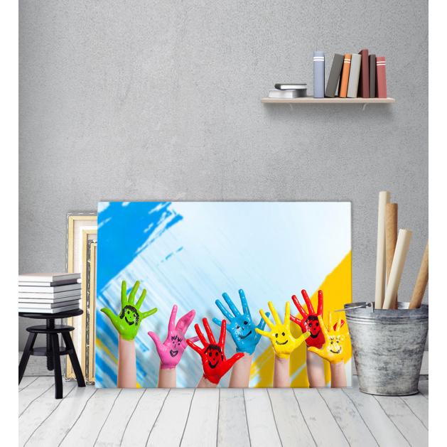 Παιδικός πίνακας Καμβάς Χεράκια Φατσούλες